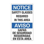 Safety Glasses Required  … ridas En Esta Area Sign