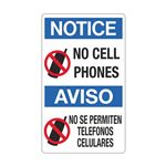 No Cell Phones / No Se P … elefonos Celulares Sign
