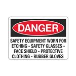 Danger Safety Equipment  … ng - Rubber Gloves Sign