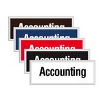 Engraved Door Sign - Accounting