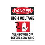 Danger High Voltage (Gra … f Before Servicing Sign