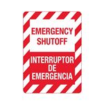 Emergency Shutoff / Interruptor De Emergencia Sign