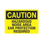 Caution Hazardous Noise  … rotection Required Sign
