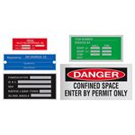 Etched Aluminum and Stainless Steel Nameplates Tag