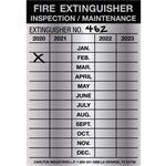 Aluminum Fire Inspection Tags - 5 mil Indentable Aluminum 2-1/2 x 3-5/8