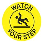 Anti-Slip Floor Decals - Watch Your Step 18 inch diameter
