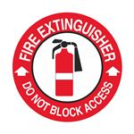Fire Extinguisher Do Not Block Access - 18 inch diameter