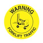 Anti-Slip Floor Decals - Warning Forklift Traffic 18 inch diameter