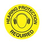 Anti-Slip Floor Decals - Hearing Protection Required 18 inch diameter