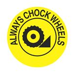 Anti-Slip Floor Decals - Always Chock Wheels 18 inch diameter