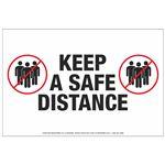 Floor Decals - Keep A Safe Distance 8 x 12