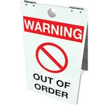Warning Out of Order Floor Stand 12x20
