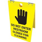 Do Not Enter Restroom Closed For Cleaning Floor Stand 12x20