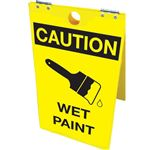Caution Wet Paint Floor Stand 12x20