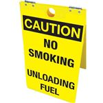 Caution No Smoking Unloading Fuel -Floor Stand - 12 x 20