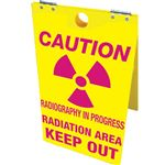 Caution Radiography In Progress Radiation Keep Out Floor Stand 12x20