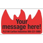Flame Labels - Custom - Custom Flame Label 1 1/2 x 2 3/8 inches