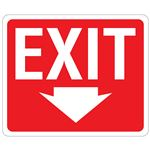 EXIT Down Arrow Sign