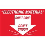 Electronic Material Don't Drop Don't Crush - Small 2 x 3
