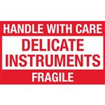Handle With Care Delicate Instruments Fragile - Small 2 x 3
