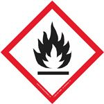 "Globally Harmonized 4"" Labels- GHS Flame"