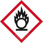 "Globally Harmonized 3/4"" Labels - GHS Flame over Circle"