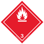 GHS Class 3 Flammable Liquid Label Transport Pictogram 2 Inch
