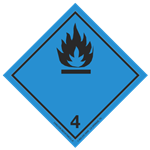 Class 4 (Black Flame) Transport Pictogram 2 in. Label RL/500