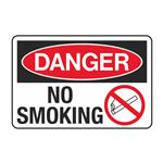 Danger No Smoking Decal