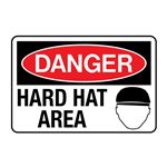 Danger Hard Hat Area Decal