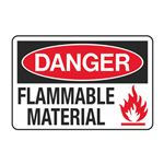 Danger Flammable Material Decal