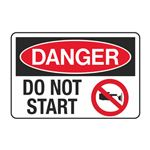 Danger Do Not Start Decal