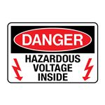 Danger Hazardous Voltage Inside Decal