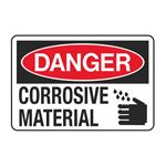 Danger Corrosive Material Decal