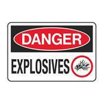 Danger Explosives Decal