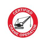 Certified Crane Operator Hard Hat Decal
