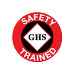 GHS Safety Trained Hard Hat Decal