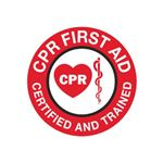 CPR First Aid Certified Hard Hat Decal - Conformable Vinyl 2 Inch Diameter