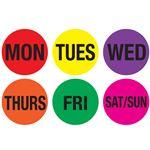 Pre-printed Daily Circular Hot Label Kit - Weekdays