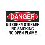 Danger Nitrogen Storage  … king No Open Flame Sign