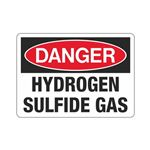Danger Hydrogen Sulfide Gas (Hazmat) Sign