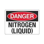 Danger Nitrogen (Liquid) (Hazmat) Sign
