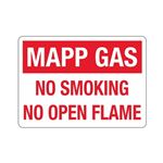 Mapp Gas No Smoking No Open Flame Sign