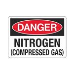 Danger Nitrogen (Compressed Gas) Sign