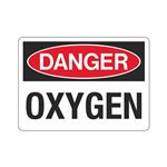 Danger Oxygen (Hazmat) Sign