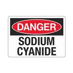 Danger Sodium Cyanide (Hazmat) Sign