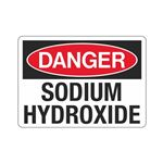 Danger Sodium Hydroxide (Hazmat) Sign