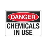 Danger Chemicals In Use (Hazmat) Sign