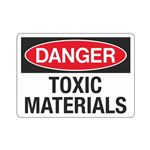 Danger Toxic Materials (Hazmat) Sign
