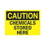 Caution Chemicals Stored Here (Hazmat) Sign